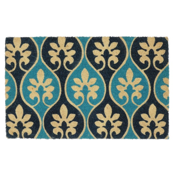 Lorain Blue 18x30 Coir Doormat by Kosas Home