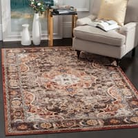 "Safavieh Bijar Traditional Oriental Brown/ Rust Distressed Rug - 5'-3"" X 7'-6"""