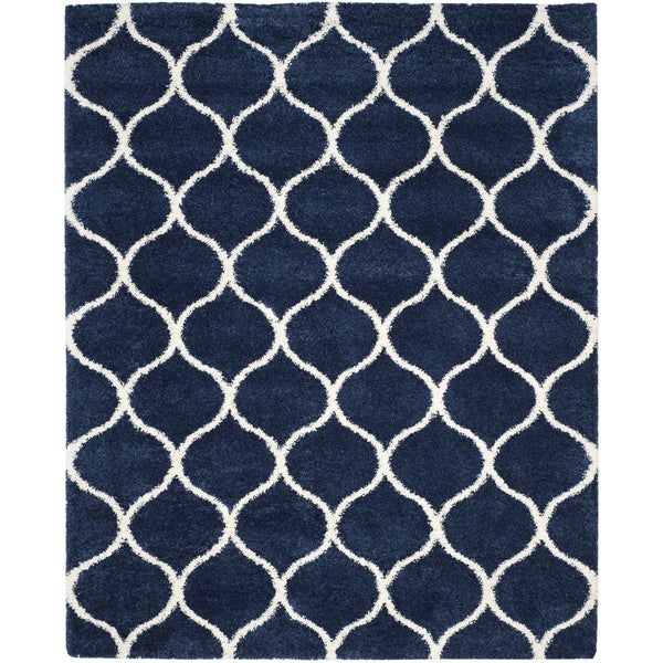navy area rug 6x9 blue rugs 8x10 shag modern ivory large amazon