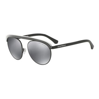 Emporio Armani Men's EA2035 30146G Black Metal Round Sunglasses