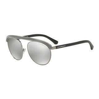 Emporio Armani Men's EA2035 30106G Gunmetal Metal Round Sunglasses