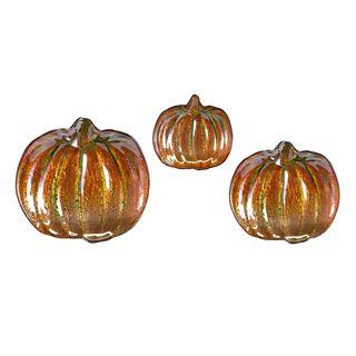 Jack's Pumpkin Glass Dishes (Set of 3)