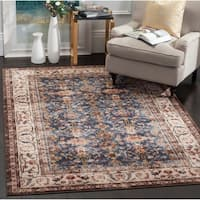 Safavieh Bijar Traditional Oriental Royal Blue/ Ivory Distressed Rug - 5'3 X 7'6