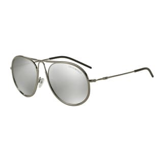 Emporio Armani Men's EA2034 30106G Gunmetal Metal Round Sunglasses