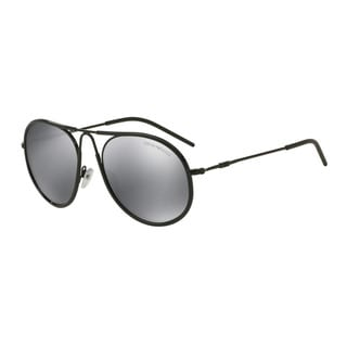 Emporio Armani Men's EA2034 30146G Black Metal Round Sunglasses