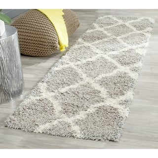 Safavieh Dallas Shag Grey/ Ivory Rug (2' 3 x 12')