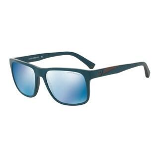 Emporio Armani Men's EA4071 550855 Green Plastic Square Sunglasses