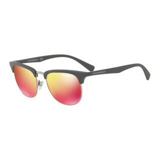 Emporio Armani Men's EA4072 55026Q Grey Plastic Square Sunglasses