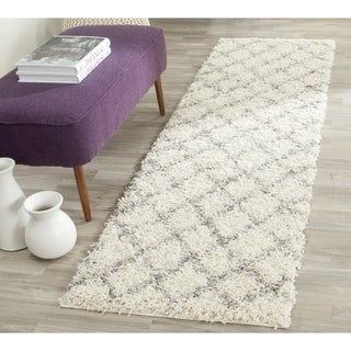 Safavieh Dallas Shag Ivory/ Grey Rug (2' 3 x 10')