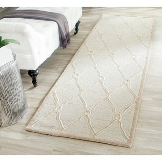 Safavieh Handmade Cambridge Light Grey/ Ivory Wool Rug (2' 6 x 6')