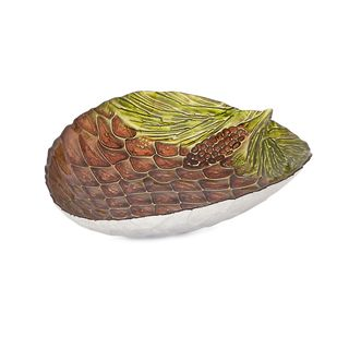 Pine Cone Glass Dish