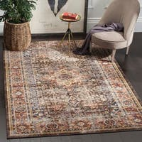 Safavieh Bijar Traditional Oriental Brown/ Rust Distressed Rug - 6' 7 x 9'
