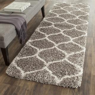 Safavieh Hudson Shag Grey/ Ivory Rug (2' 3 x 10')