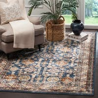 Safavieh Bijar Traditional Oriental Royal Blue/ Ivory Distressed Rug - 6' 7 x 9'