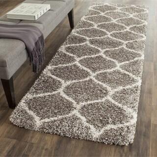 Safavieh Hudson Shag Grey/Ivory Rug (2' 3 x 12')