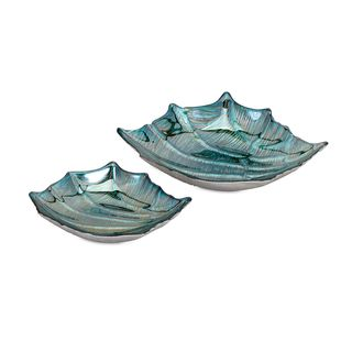 Cove Cay Glass Shell Dishes (Set of 2)