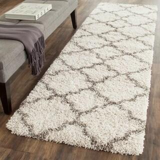 Safavieh Hudson Shag Ivory/ Grey Rug (2' 3 x 12')