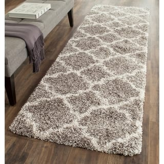 Safavieh Hudson Quatrefoil Shag Grey/ Ivory Rug (2' 3 x 12')|https://ak1.ostkcdn.com/images/products/11721796/P18641868.jpg?impolicy=medium