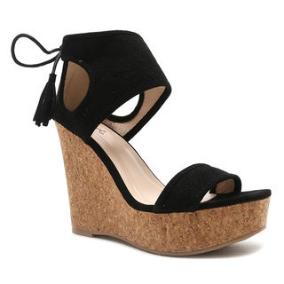 Qupid Kelsey-22 Wedge Sandal