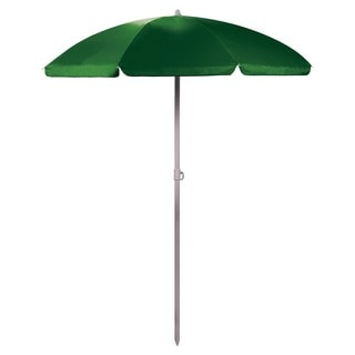 5.5-foot Green Portable Beach/Picnic Umbrella