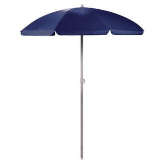 5.5-foot Blue Portable Beach/Picnic Umbrella
