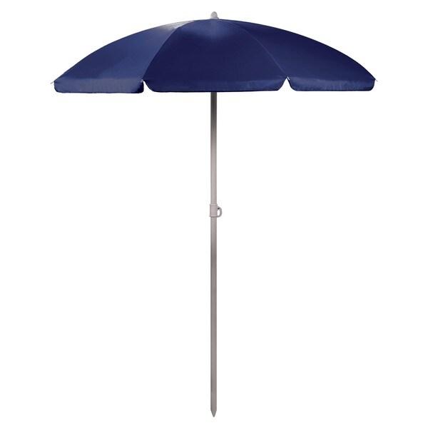5.5-foot Blue Portable Beach/Picnic Umbrella