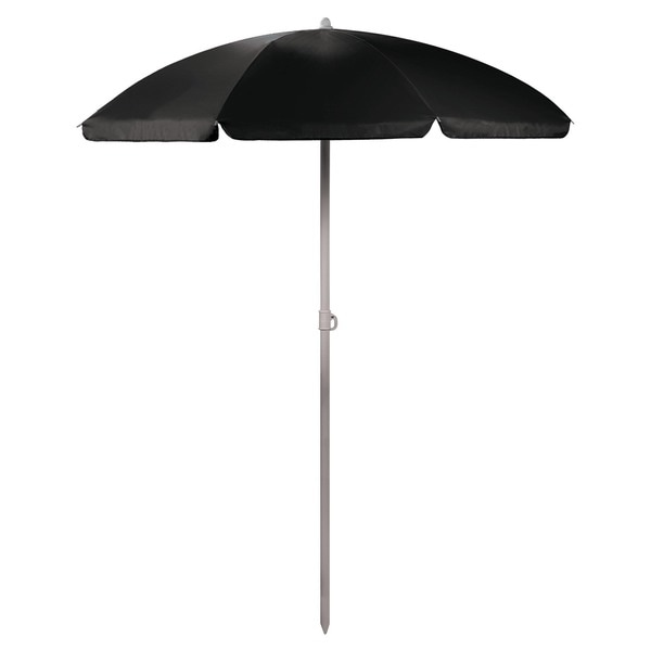 5.5-foot BlackPortable Beach/Picnic Umbrella