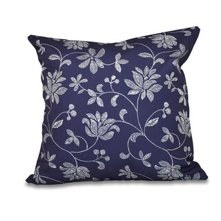 Traditional Floral Floral 20 x 20-inch Outdoor Pillow