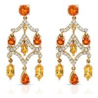 14k Yellow Gold 1/3ct TDW Diamond Chandelier Earrings (H-I, VS1-VS2)