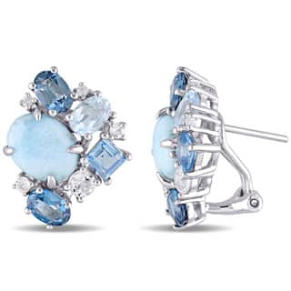 en stone larimar shop round online buy earrings