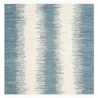 Safavieh Hand-Woven Montauk Blue Cotton Rug (4' Square)