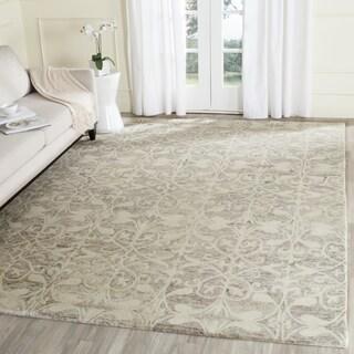Safavieh Handmade Chatham Light Grey/ Ivory Wool Rug (5' Square)