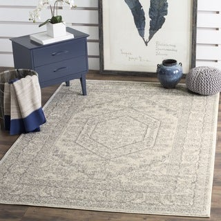 Safavieh Adirondack Ivory/ Silver Rug (9' Square)