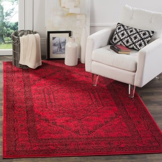 Safavieh Adirondack Vintage Red/ Black Rug (4' Square)