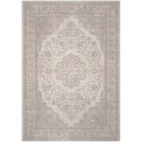 Safavieh Classic Vintage Beige Cotton Distressed Rug - 6' Square