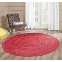 Safavieh Adirondack Vintage Red/ Black Rug - 4' Round