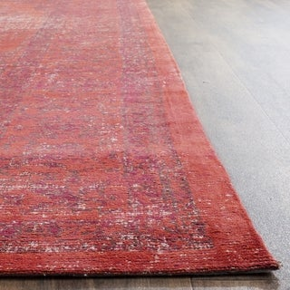 Safavieh Classic Vintage Red Cotton Rug (6' x 6' Square)