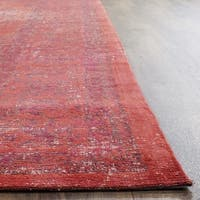 Safavieh Classic Vintage Overdyed Red Cotton Distressed Rug - 6' x 6' Square