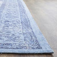 Safavieh Classic Vintage Overdyed Blue Cotton Distressed Rug - 6' x 6' Square