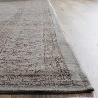 Safavieh Classic Vintage Grey Cotton Distressed Rug (6' x 6' Square)