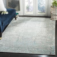 Safavieh Mystique Watercolor Teal/ Multi Silky Rug - 6' 7 Square