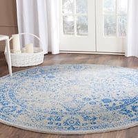 Safavieh Adirondack Vintage Distressed Grey / Blue Rug - 8' Round