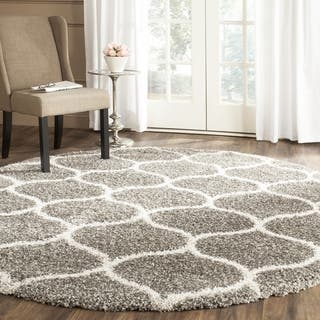 Safavieh Hudson Shag Modern Ogee Grey/ Ivory Rug (5' Round)|https://ak1.ostkcdn.com/images/products/11722301/P18642356.jpg?impolicy=medium