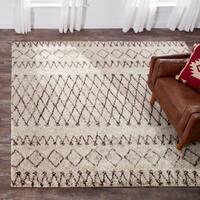 Safavieh Handmade Casablanca Ivory/ Natural Wool Rug (8' Square) - 8' x 8' Square