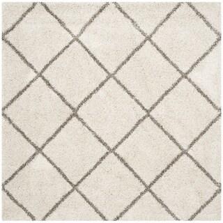 Safavieh Hudson Shag Estella Rug (5 x 5 Square - Ivory/Grey)