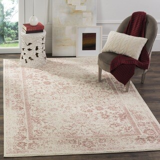 Safavieh Adirondack Vintage Distressed Ivory / Rose Rug (6' Square)