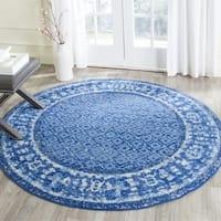 Safavieh Adirondack Vintage Light Blue/ Dark Blue Rug - 4' x 4' Round