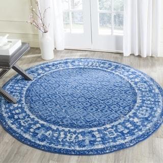 safavieh adirondack vintage light blue dark blue rug 4u0027 round