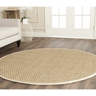Safavieh Casual Natural Fiber Natural / Ivory Seagrass Rug (4' Round)