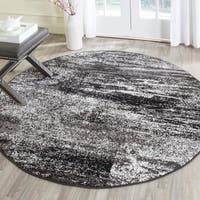 Safavieh Adirondack Modern Abstract Silver/ Black Rug - 8' x 8' Round